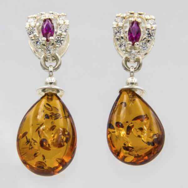 Honey Amber Earrings A1A53