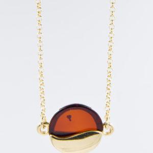 Gentle bracelet with natural cognac amber Z1A12