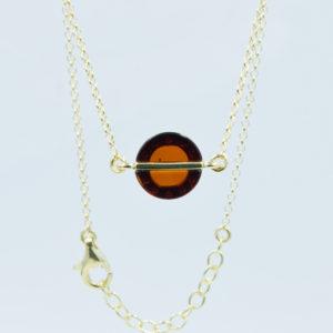 Elegant bracelet with natural round amber Z1A15